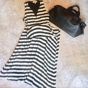 Monteau Striped Maxi Dress